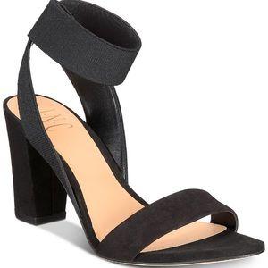 NWT INC Black Block Heeled Sandals Size 8